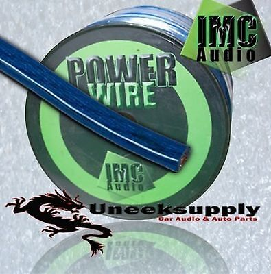 BLUE 4 Gauge Power Amplifier Wire  10 feet ft  4 AWG Primary Cable Guage 4 Awg Power Amplifier