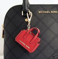 Michael Kors Key Fascini Selma Key Portachiavi Saffiano Pelle Red Novita ' - michael kors - ebay.it