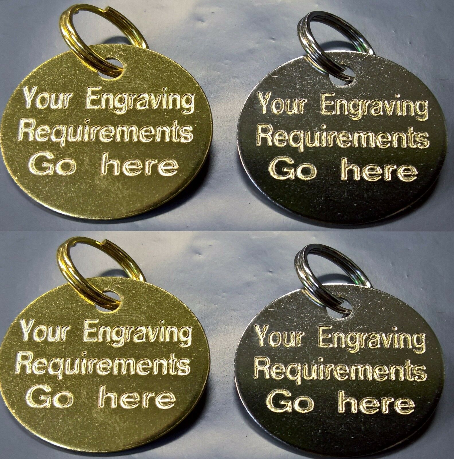 Engraved Pet Tags DOG CAT ID Disc Disk FREE Post & Deep Engr