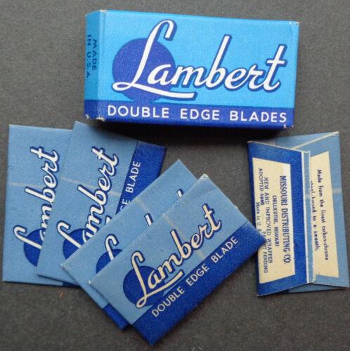 Vintage USA Razor Blades LAMBERT Pack of 5 Seldom Offered