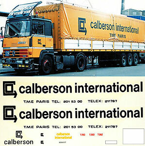 renault calberson international france f 1 87 truck decal lkw abziehbild ebay. Black Bedroom Furniture Sets. Home Design Ideas