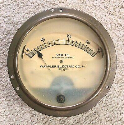 Vintage Wappler Electric Co. Volts Voltage Meter Gauge Ac Voltmeter - Untested