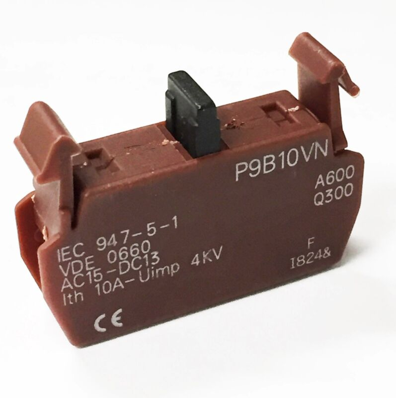 GE P9B10VN Auxiliary Contact , IEC ,1NO , Rear Mount Normally Open