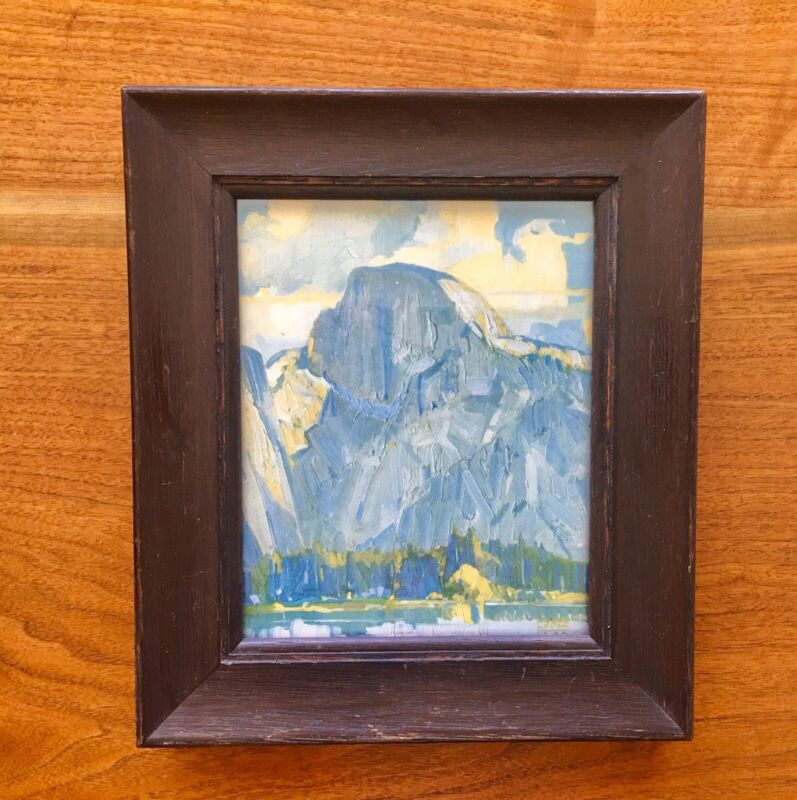 Arts and Crafts Mission Oak Frame with Yosemite Half Dome