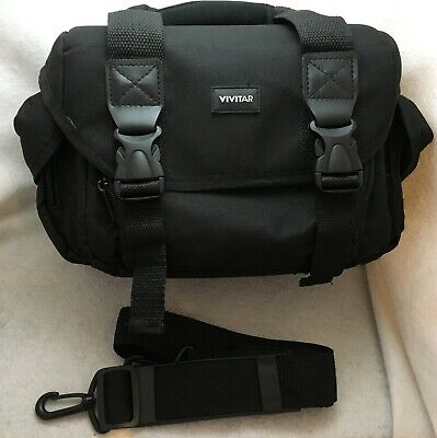 Vivitar VIV-DC-59 Padded Digital Camera Gadget Bag Carry On Large Size - Black