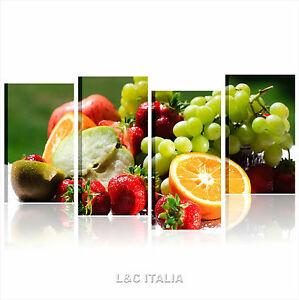 Frutta 2 quadri moderni 152x78 quadro arredo cucina bar fruit mela arancia uva ebay - Quadri in cucina ...