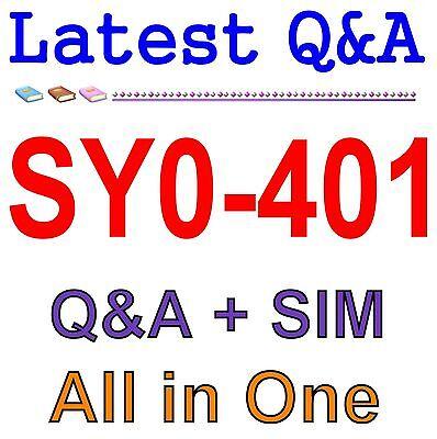 Comptia Security  Sy0 401 Exam Qa Pdf Sim