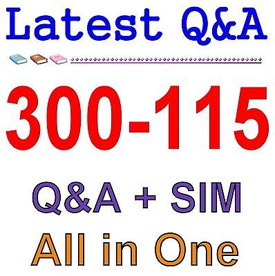 Cisco Best Practice Material For 300-115 Exam Q&A PDF+SIM