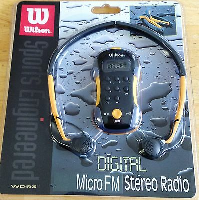 (NEW Wilson Digital Micro FM Stereo Radio Sports Engineered, Earphones Included )