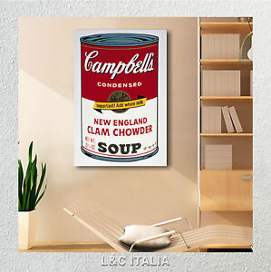 Andy warhol campbells 2 quadro moderno arredamento casa for Arredamento pop art