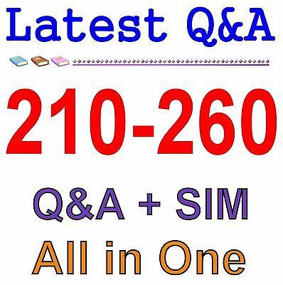 Cisco Best Practice Material For 210-260 Exam Q&A PDF+SIM