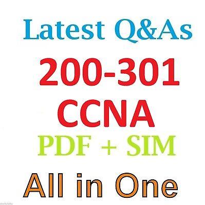 2020 CISCO 200-301 CCNA TEST EXAM Q & A SIMULATOR & PDF