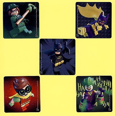 15 Lego Batman Large Stickers - Party Favors - Robin, Batgirl Joker, Riddler - Batgirl Party Favors