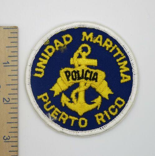 PUERTO RICO UNIDAD MARITIMA POLICIA POLICE PATCH Original Vintage