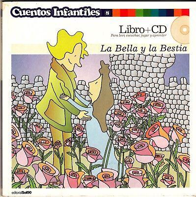 LA BELLA Y LA BESTIA  LIBRO (TAPA BLANDA) + CD CUENTOS INFANTILES 8