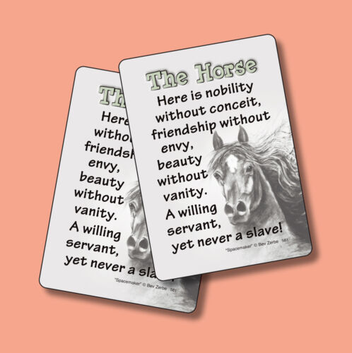 """The Horse"" - Poem - 2 Verse Cards - SKU# 581"