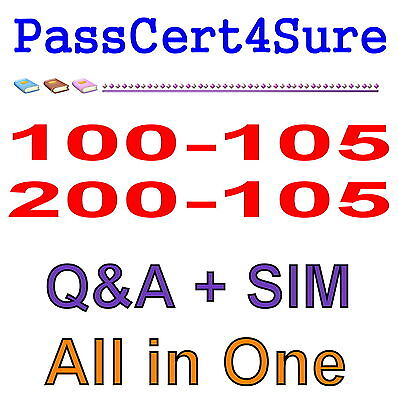 Cisco Best Practice Material For 100-105 200-105 ICND1 ICND2 Exam Q&A PDF+SIM