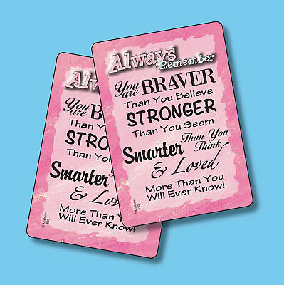 """""""Always Remember You Are Braver Than"""" - 2 Inspirational Verse Cards - sku# 630"""