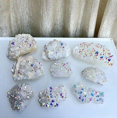 Wholesale Lot 2 Lbs Angel Aura Quartz Cluster Crystal Raw Nice Quality