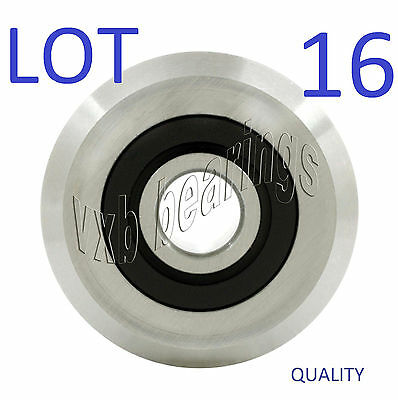 Lot 16 Vgroove Id 38inch V Groove Belt Pulley Guide Way Sealed Ball Bearing