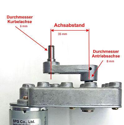 V-TEC 12V 7mm Dual Antriebswelle DC Motor Gleichstrom Turbine Getriebe 129 RPM