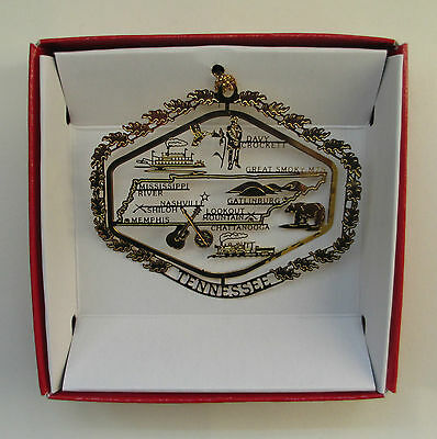 Tennessee Brass State Christmas Ornament Travel Souvenir Gift