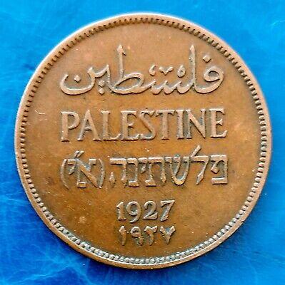 Israel Palestine British Mandate 5 Mils 1939 Coin XF