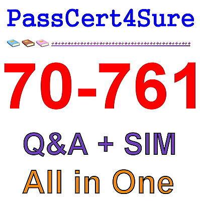 Best Exam Practice Material For 70-761 Exam Q&A+SIM