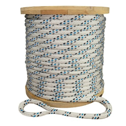 """Strongest Double Braid Polyester Cable Wire Pull Pulling Rope W/ 6"""" Spliced Eyes"""