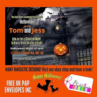 Halloween Party Invitation Designs (Halloween Party Invitations - 5 x Personalised Prints large design)