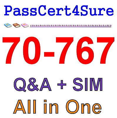 Best Exam Practice Material For 70-767 Exam Q&A+SIM