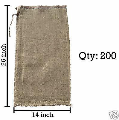 200 14x26 Burlap Bags, Burlap Sacks, Sandbags, Gunny Sack, Potato Sacks, Sack