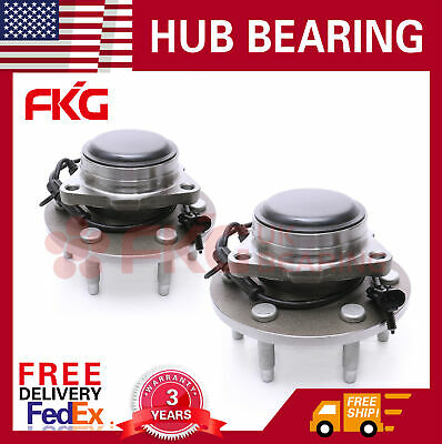 2WD Front Wheel Hub & Bearing Assembly For Chevy GMC Silverado Sierra 515054 x2