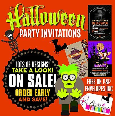 Halloween Party Invitation Designs ( 5 x HALLOWEEN PARTY INVITATIONS - BROWSE THIS LISTING FOR LOTS OF)
