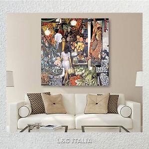 La vucciria guttuso quadri tela stampa arte arredamento for Quadri moderni salotto