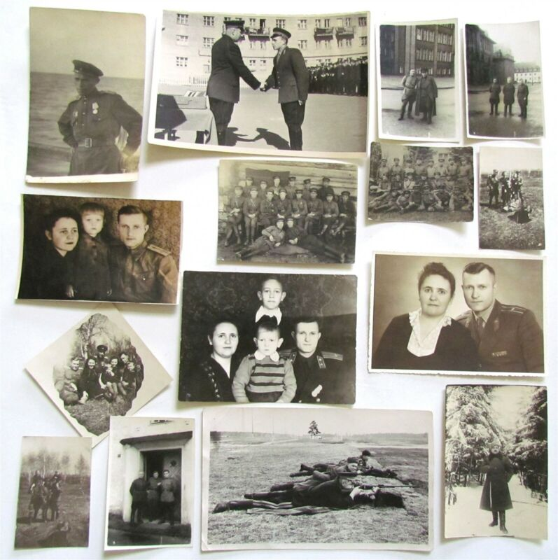 LOT OF 15 RUSSIAN WWII & POST-WW2 MILITARY PHOTOS