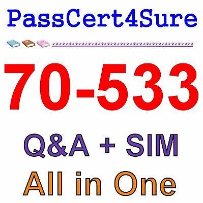 Best Exam Practice Material for 70-533 Exam Q&A+SIM