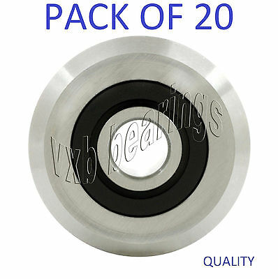 16pcs W2 RM2-ZZ 3//8/'/' 9.525*30.73*11.1mm V Groove Sealed Ball Guide Bearings New