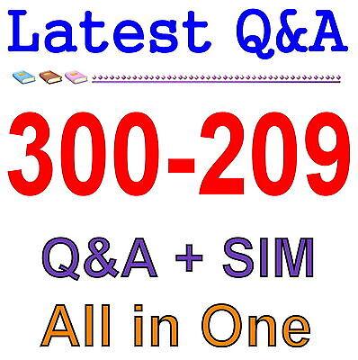 Cisco Best Practice Material For 300-209 Exam Q&A PDF+SIM