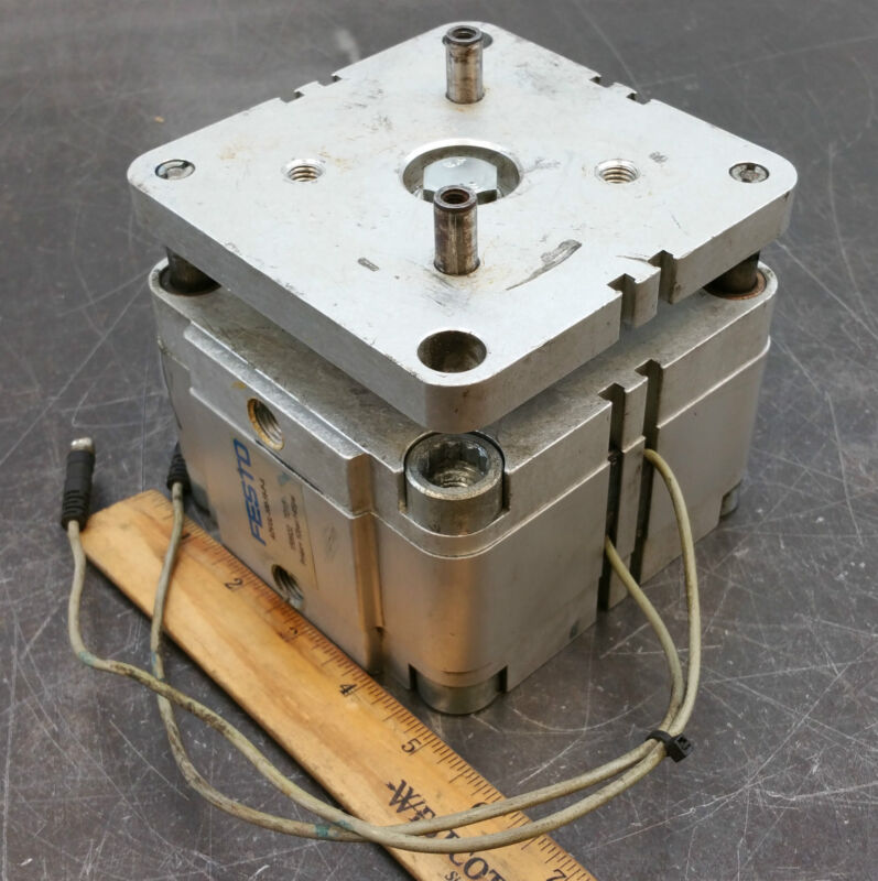Festo ADVUL-100-15-P-A Pneumatic Air Cylinder Actuator 15mm Stroke Used 001