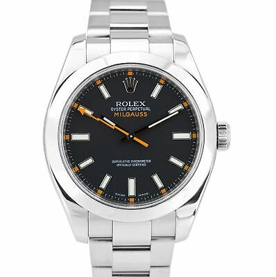 Rolex Milgauss 116400 Black Anti-Magnetic Stainless Steel Oyster 40mm Watch