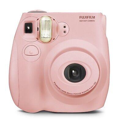 New Sealed Fujifilm Instax Mini 7s Instant Film Camera Light Pink Bonus 10 Films