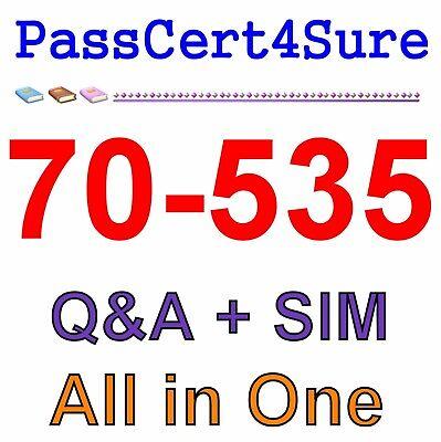 Best Exam Practice Material for 70-535 Exam Q&A+SIM