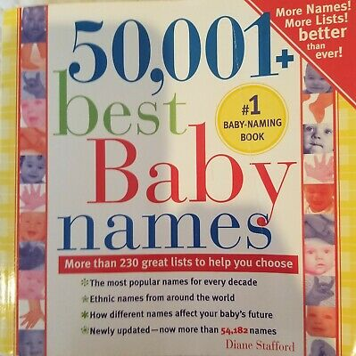 50,001 Best Baby Names Book - Used 🍼 Fun Baby Name Book with various