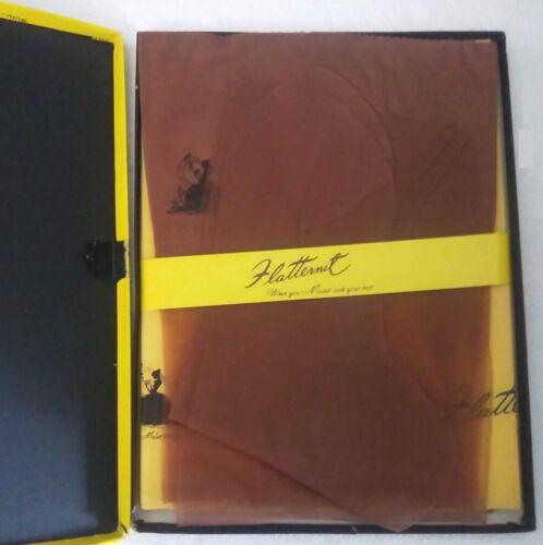 vintage Flatternit seamless nylon stockings spice new box Huffman 8 1/2 Med