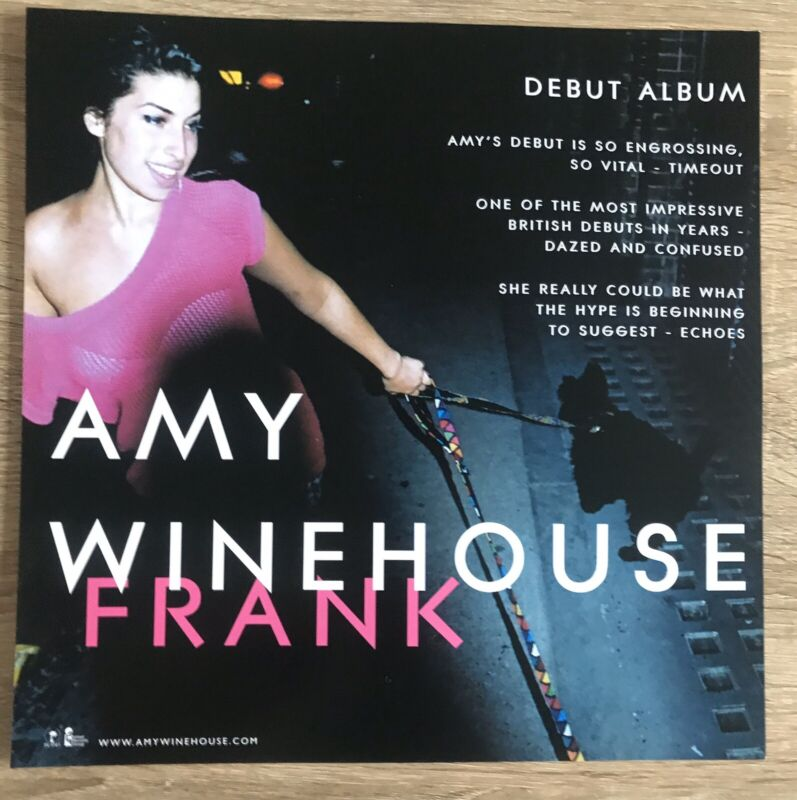 Amy Winehouse Promo Poster Double Sided Ultra Rare