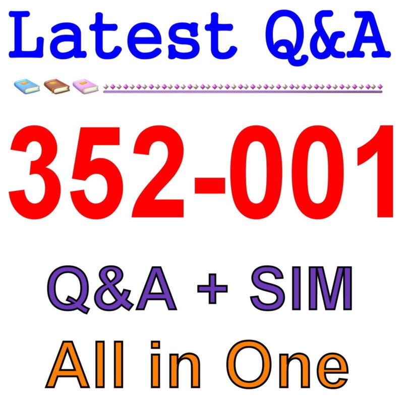 Cisco Best Practice Material For 352-001 Exam Q&A+SIM