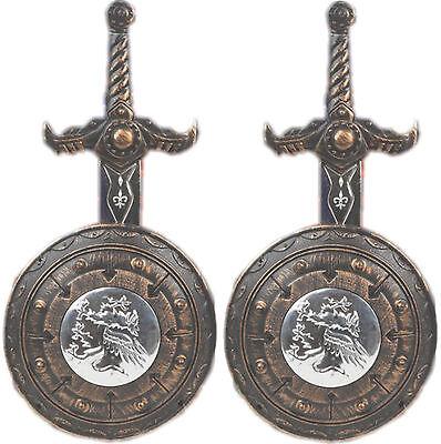 2 x Silber/Bronze Ritter Set Kinder Bulle Ritterset - Silber Kinder Kostüme