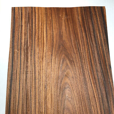 Santos Rosewood Raw Wood Veneer Sheets 12 X 45 Inches 142nd Wormhole  H7684-3