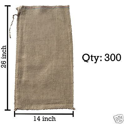 300 14x26 Burlap Bags, Burlap Sacks, Sandbags, Gunny Sack, Potato Sacks, Sack